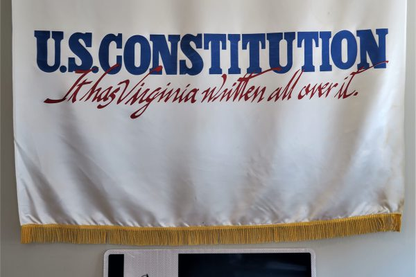 Sign with Constitution Banner