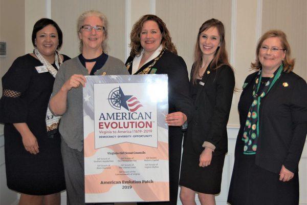 L to R: Ms. Nikki Williams, Delegate Turpin, Ms. Tracey Keller, Ms. Kristin Ritchey, and Ms.Mary Fuller